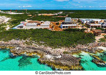 Hotels under construction at the Cuban northern keys