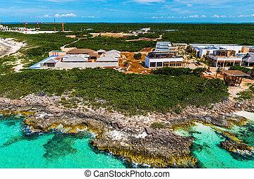 Hotels under construction at the Cuban northern keys