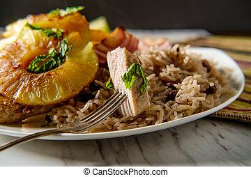 Cuban Pineapple Pork Chops