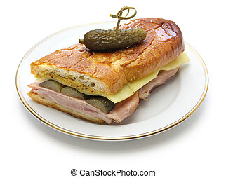 cuban sandwich, cuban mix, ham and cheese pressed sandwich