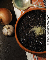 Cuban typical food - black beans