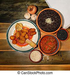 cubano, pratos, típico