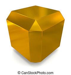 cube 3d golden