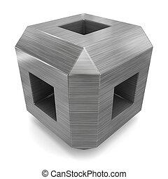 cube 3d metal