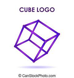 Cube 3d technology logo