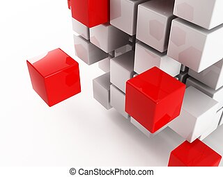 Cube - a 3d cube on a white background