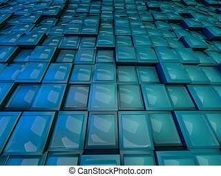 Cube abstract background. 3D