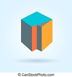 Cube abstract logo template