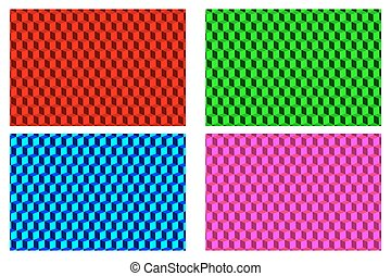 Cube - abstract vector pattern