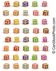 cube, alphabet