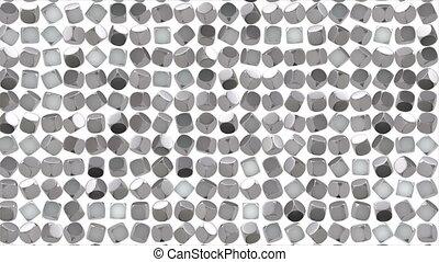 cube, argent, géométrique, résumé, surface.