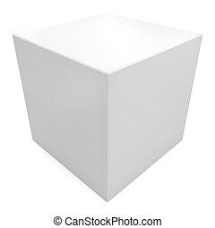cube blanc, 3d