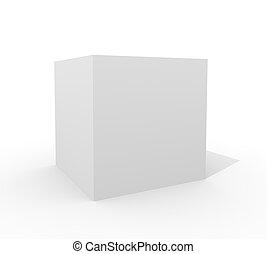 cube blanc, isolé