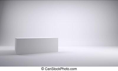cube blanc, studio