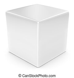 cube blanc, vide