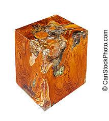 cube, bois