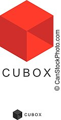 Cube Box Logo icon design