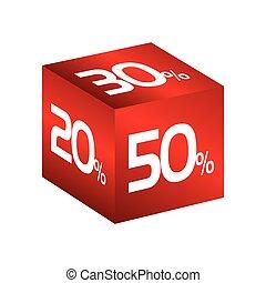 cube discount percent