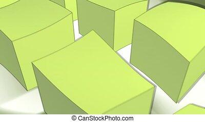 cube, dull, conveyor