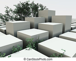 Cube Garden Background