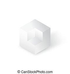 Cube geometric figure