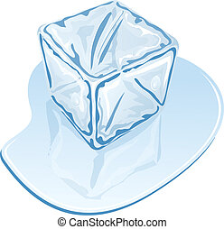 cube, glace