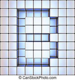 Cube grid Letter B 3D