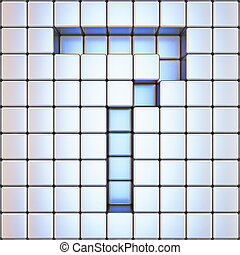 Cube grid Number 7 SEVEN 3D