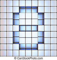 Cube grid Number 8 EIGHT 3D