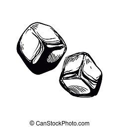 Cube icon. Ice design. Vector graphic - Ice concept...