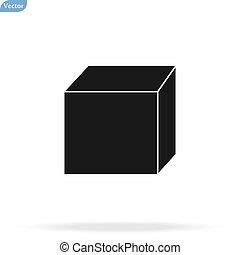 Cube icon isolated on background. Modern flat pictogram, business, marketing, internet concept. Trendy Simple vector symbol for web site design or button to mobile app. Logo illustration.