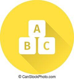 Cube icon. Vector illustration.