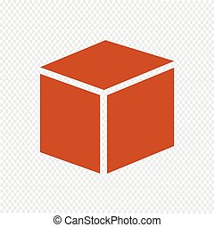 Cube icon vector illustration