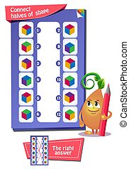 cube in color game for kids