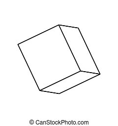 cube isometric line style icon