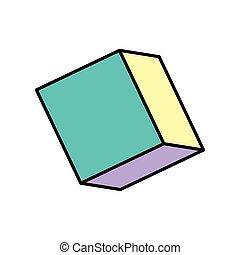 cube isometric style isolated icon