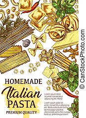Cube - Italian pasta, homemade cooking cuisine with...