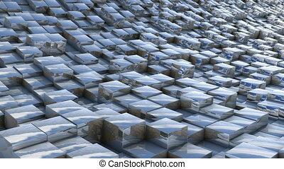 cube landscape reflection