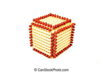 Cube made of matches