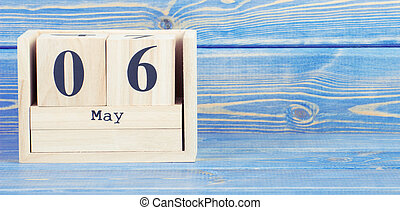 cube, mai, vendange, photo, bois, 6th., 6, date, calendrier