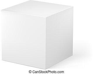 Cube on white background. Illustration for design.