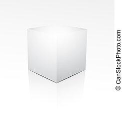 Cube on white background