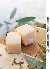 cube Parmesan cheese