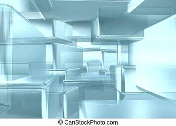cube, pattern, reflect