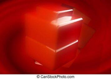 cube, pattern, rotation