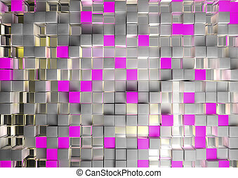 cube pink background - cube pink