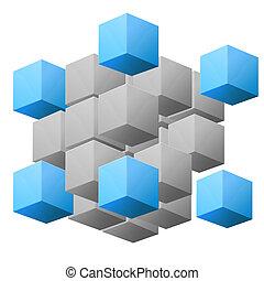 cube, résumé, illustration