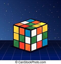 cube rubik retro 80s