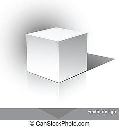 cube-shaped, mjukvara, kolli, boxas