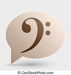 Cube sign illustration. Brown gradient icon on bubble with shadow.